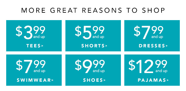 More great reasons to shop