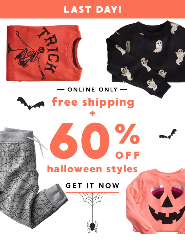 Free Shipping + 60% Off Halloween Styles